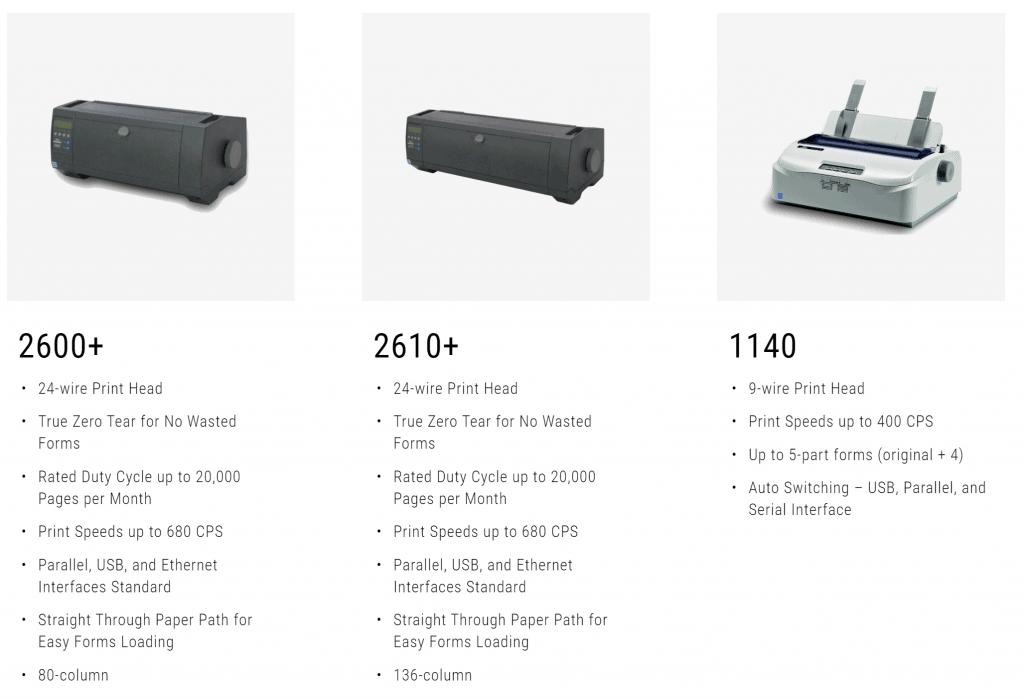 Tally DASCOM dot matrix printers