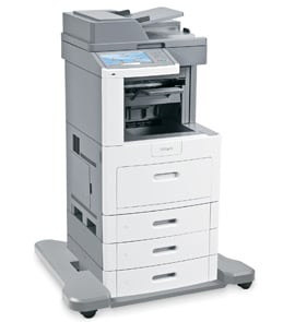 lexmark x658dtfe mfp angled view