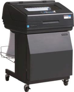 Printronix P7010 with Enclosed Quiet Pedestal upgrade